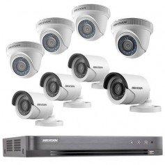 Kit vidéo surveillance 8 cameras et dvr Turbo HD Hikvision
