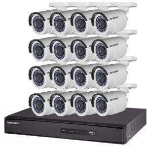 Kit vidéo surveillance 16 cameras et dvr turbo HD Hikvision