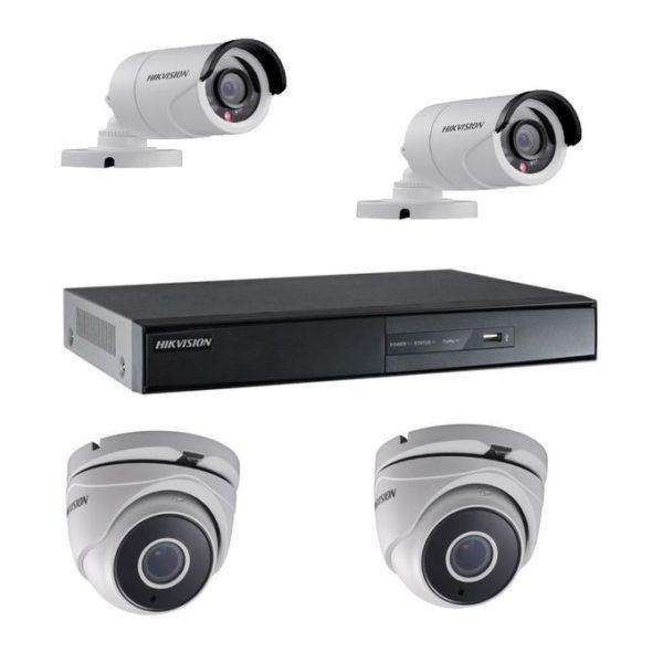 Kit vidéo surveillance 4 cameras et dvr Turbo HD Hikvision