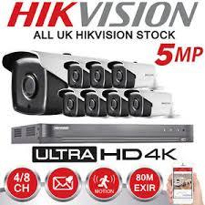 Kit vidéo surveillance 8 cameras et dvr turbo HD 5MP Hikvision