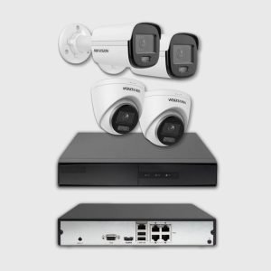 KIT VIDÉO SURVEILLANCE IP 4 CAMERAS IP 2MP POE ET NVR DE 4 UP TO 6MP POE