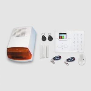 Kit alarme sans fil Focus GSM et Réseaux avec 1 détecteurs et 1 contacte