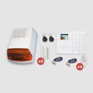 Kit alarme sans fil Focus GSM et Réseaux avec 2 détecteurs et 2 contacte